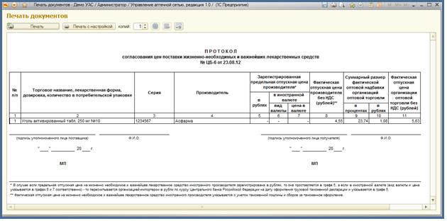 протокол мониторинга цен образец - фото 2